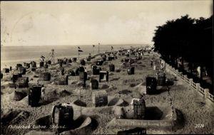 Ak Laboe Probstei Ostsee, Strandpartie, Sandburgen