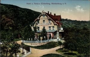 Ak Blankenburg Harz, Hotel Pension Eichenberg, Inh. A. Rost