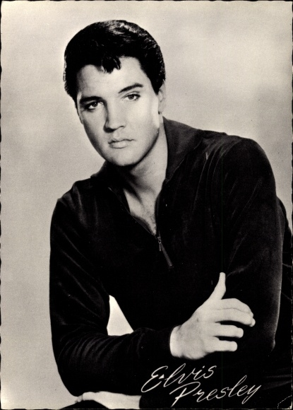 Ak Schauspieler und Rock n Roll Musiker Elvis Presley, Portrait