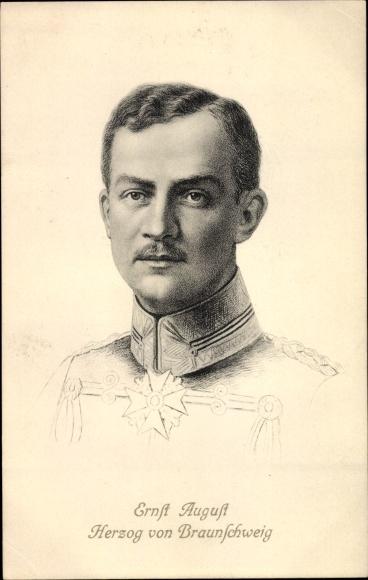 Künstler Ak Herzog Ernst August von Braunschweig, Portrait in Uniform, Stengel 49162