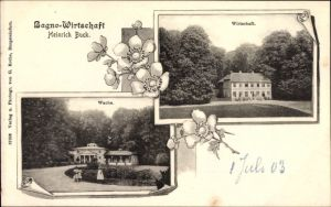 Passepartout Ak Burgsteinfurt Steinfurt in Nordrhein Westfalen, Bagno Wirtschaft, H. Buck, Wache