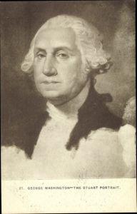Künstler Ak George Washington, von 1789 bis 1797 erster Präsident der USA