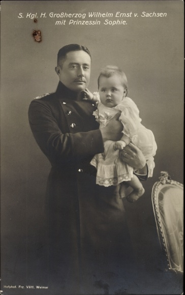 Ak Großherzog Wilhelm Ernst von Sachsen Weimar Eisenach mit Prinzessin Sophie