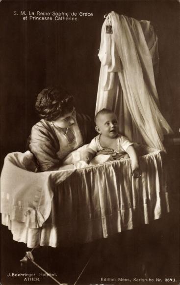 Ak Königin Sophia von Griechenland, Sophie von Preußen, Prinzessin Katharina von Griechenland