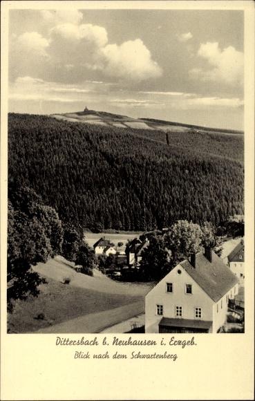 Ak Dittersbach Neuhausen Erzgebirge, Blick nach dem Schwartenberg