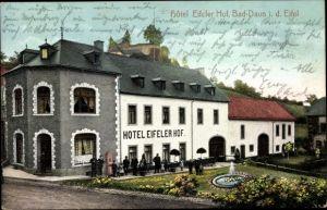 Ak Daun in der Eifel Rheinland Pfalz, Hotel Eifeler Hof, Außenansicht mit Garten