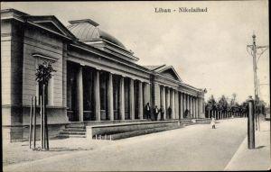 Ak Liepaja Libau Lettland, Nikolaibad, Säulen