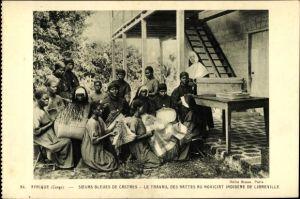 Ak Libreville Demokratische Republik Kongo Zaire, Soeurs Bleues de Castres, Travail des Nattes