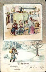 Lied Ak Günther, Anton, Da Uf'nbank, Erzgebirgische Mundart Nr. X, Winter