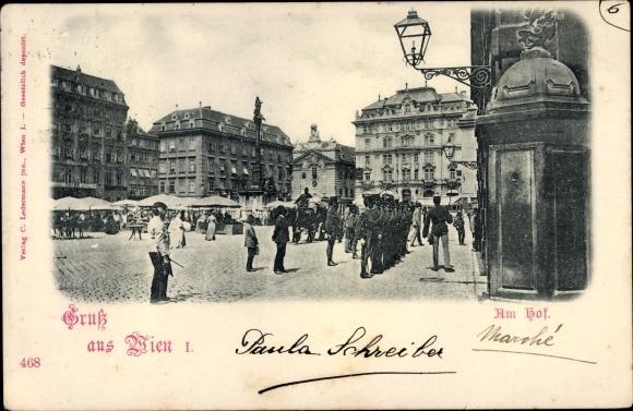 Ak Wien 1. Innere Stadt Österreich, Am Hof