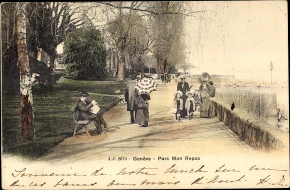 Ak Genève Genf Stadt, Parc Mon Repos
