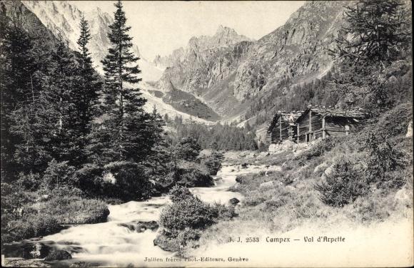 Ak Champex Orsières Kt. Wallis Schweiz, Val d'Arpette