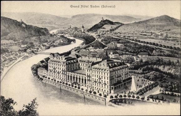 Ak Baden Kt. Aargau Schweiz, Grand Hotel