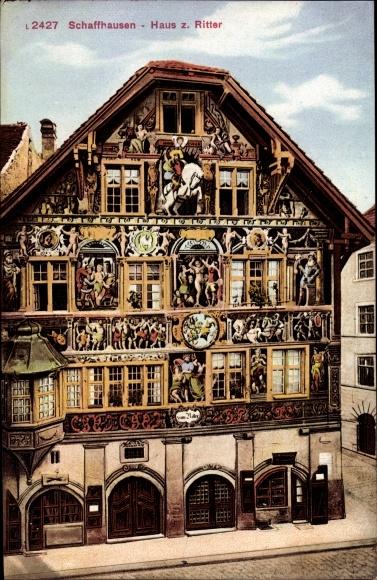 Ak Schaffhausen Stadt Schweiz, Haus Zum Ritter