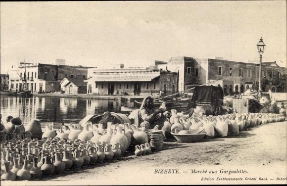 Ak Bizerte Tunesien, Marche aux Gargoulettes