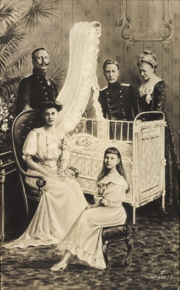 Ak Kaiser Wilhelm II. von Preußen, Kaiserin Auguste Viktoria, Kronprinzessin Cecilie von Preußen
