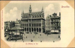 Relief Ak Bruxelles Brüssel, La Maison du Roi, Pavillon