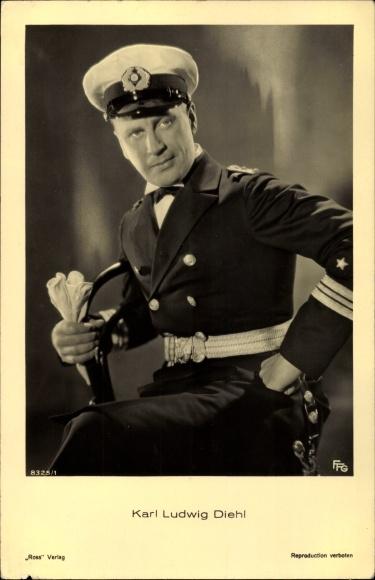 Ak Schauspieler Karl Ludwig Diehl, Portrait in Uniform, Ross Verlag 8325 1