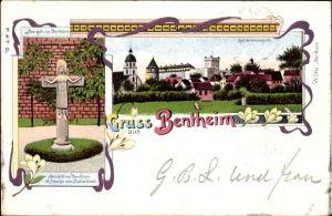 Litho Bad Bentheim in Niedersachsen, Herrgott von Bentheim, Kruzifix, Gesamtansicht