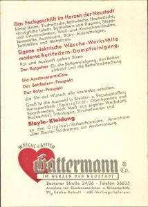 Ak Reklame für Hattermann und Co.,Wäsche und Betten, Bautzner Straße 24