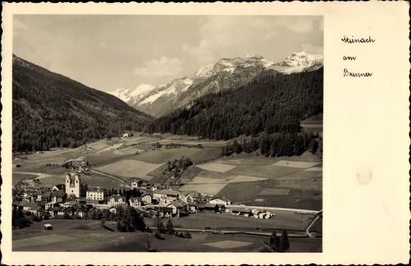 Ak Steinach am Brenner in Tirol, Ortschaft mit Landschaftsblick, Bahnstrecke