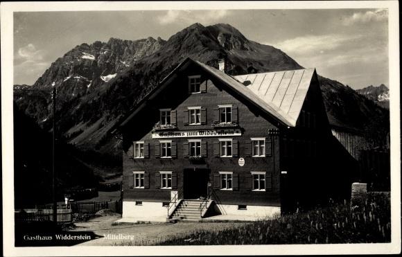 Ak Mittelberg in Vorarlberg, Gasthaus Widderstein