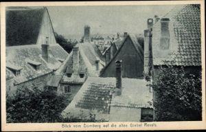 Ak Tallinn Reval Estland, Blick vom Domberg auf die alten Giebel