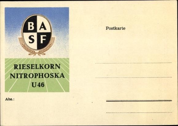 Künstler Ak BASF Rieselkorn Nitrophoska U 46