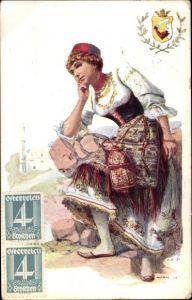 Wappen Ak Frau in türkischer Tracht, Portrait