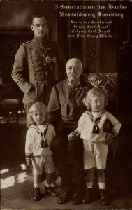 Ak 3 Generationen d. Hauses Braunschweig Lüneburg, Herzog Ernst August, Herzog von Cumberland