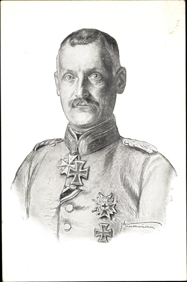 Künstler Ak Kronprinz Ruppreau von Bayern, Portrait, Orden, EK I und II