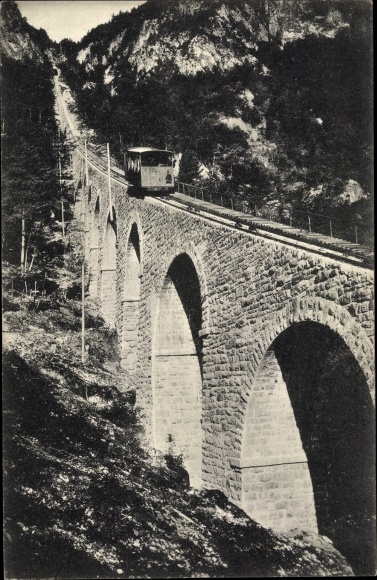 Ak Mendelbahn, großer Viadukt