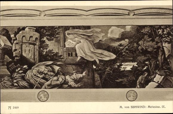 Künstler Ak Schwind, Moritz von, Melusine IX, Ackermann 239 2469