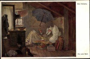 Künstler Ak Spitzweg, Car, Der arme Poet, Primus 3059