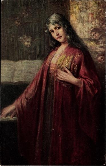 Künstler Ak Winck, W., Im Reiche der Töne, Portrait einer Frau