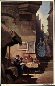Künstler Ak Spitzweg, Carl, Der Antiquar, Primus 3063