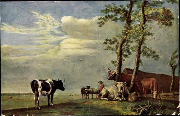 Künstler Ak Potter, Paul, Kühe auf der Wiese