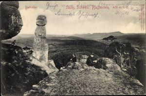 Ak Königstein an der Elbe Sächsische Schweiz, Barbarine, Pfaffenstein
