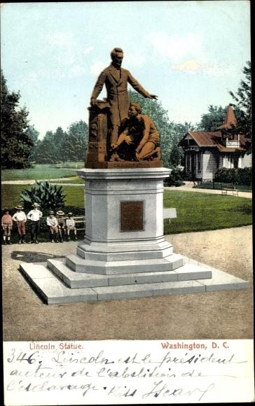 Ak Washington DC USA, Lincoln Statue