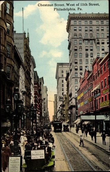Ak Philadelphia Pennsylvania USA, Chestnut Street, West of 11th Street