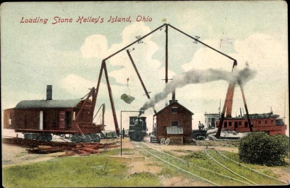 Ak Kelleys Island Ohio USA, Loading Stone,