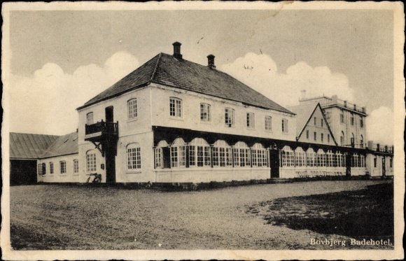Ak Lemvig Dänemark, Blick auf das Bovbjerg Badehotel