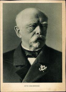 Ak Fürst Otto von Bismarck, Portrait im Anzug