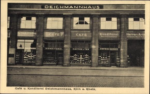 Ak Köln am Rhein, Café und Konditorei Deichmannhaus, Vorderansicht