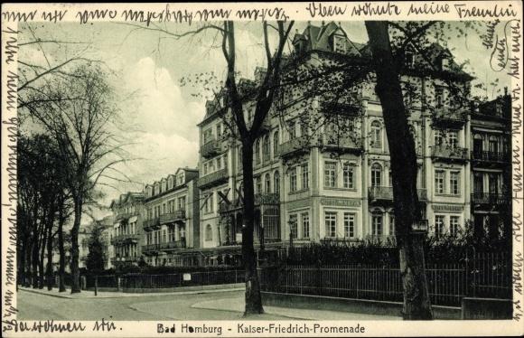 Ak Bad Homburg vor der Höhe, Partie auf der Kaiser Friedrich Promenade