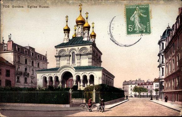 Ak Genève Genf Stadt, Église Russe, Russische Kirche