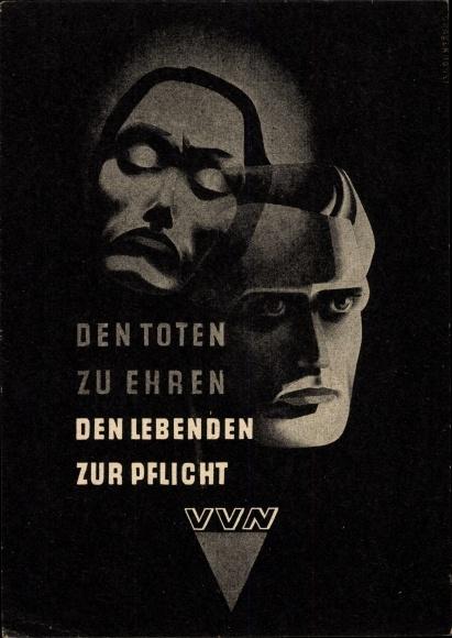 Ak Den Toten zu Ehren, den Lebenden zur Pflicht, VVN, Vereinigung der Verfolgten des Naziregimes