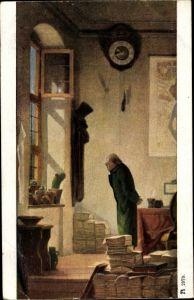 Künstler Ak Spitzweg, Carl, Der Kaktus, Ackermann 2979