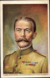Künstler Ak Lord Kitchener, Britischer Kriegsminister, Reklame Solution Pautauberge, Chaux Creosote