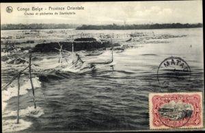 Ak Demokratische Republik Kongo Zaire, Stanley Falls, Chutes et pecheries